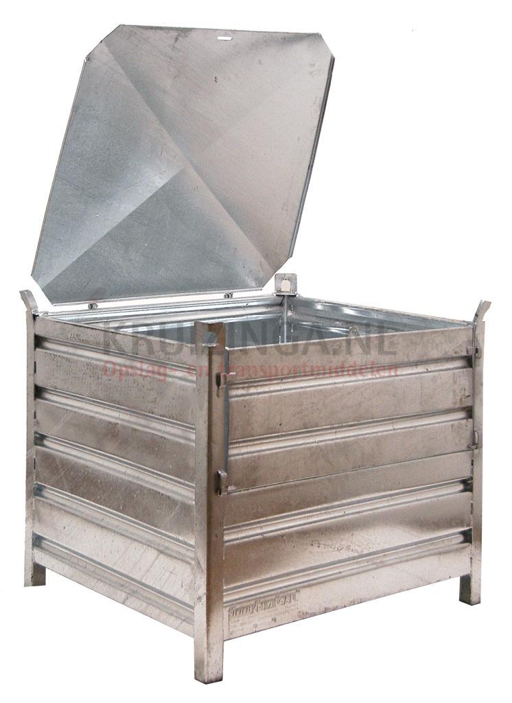 bac de rangement acier construction robuste bac empilable avec couvercle. Black Bedroom Furniture Sets. Home Design Ideas
