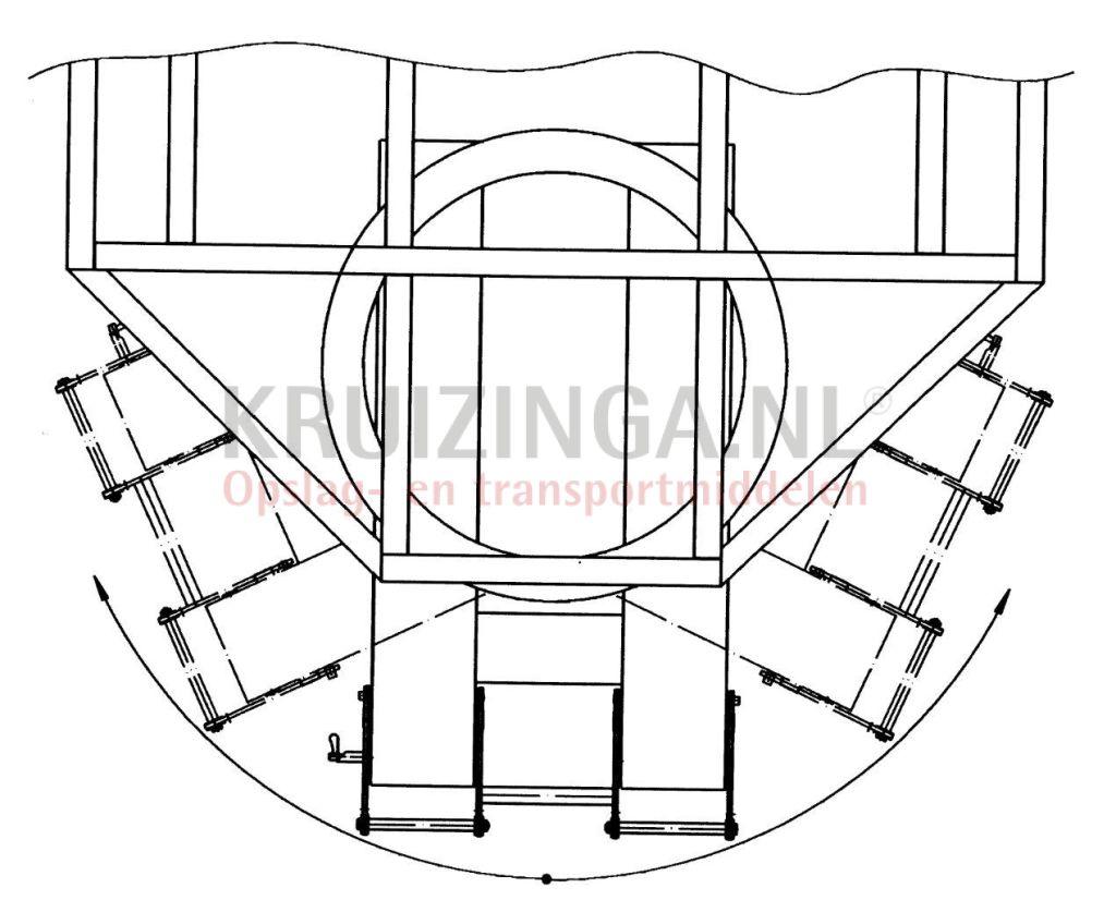 Transport trolley forklift truck tender system stable profile frame ...
