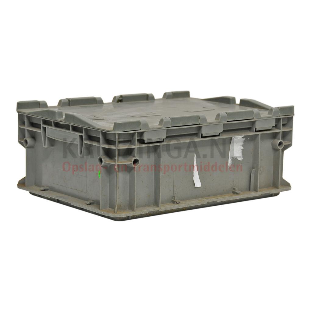 stapelboxen kunststoff stapelbar mit 2 teiligem deckel gebraucht. Black Bedroom Furniture Sets. Home Design Ideas