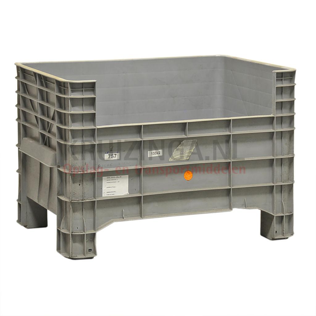 bac de rangement plastique caisse palette 1 paroi longue demi ouvert occasion. Black Bedroom Furniture Sets. Home Design Ideas
