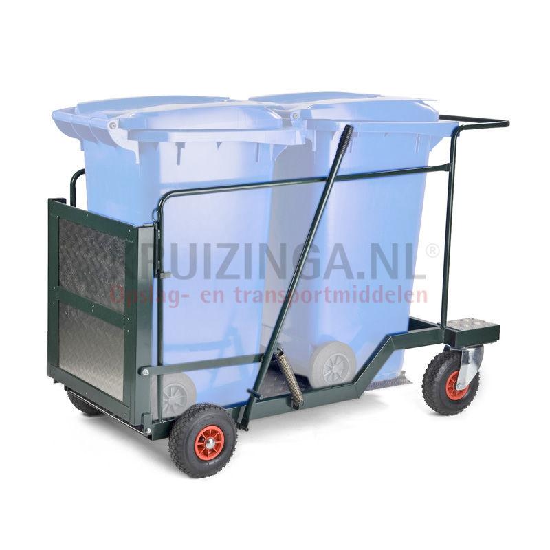 chariots de m nage d chets et hygi ne chariot de transport pour 2 x 240 ltr mini conteneur 798. Black Bedroom Furniture Sets. Home Design Ideas