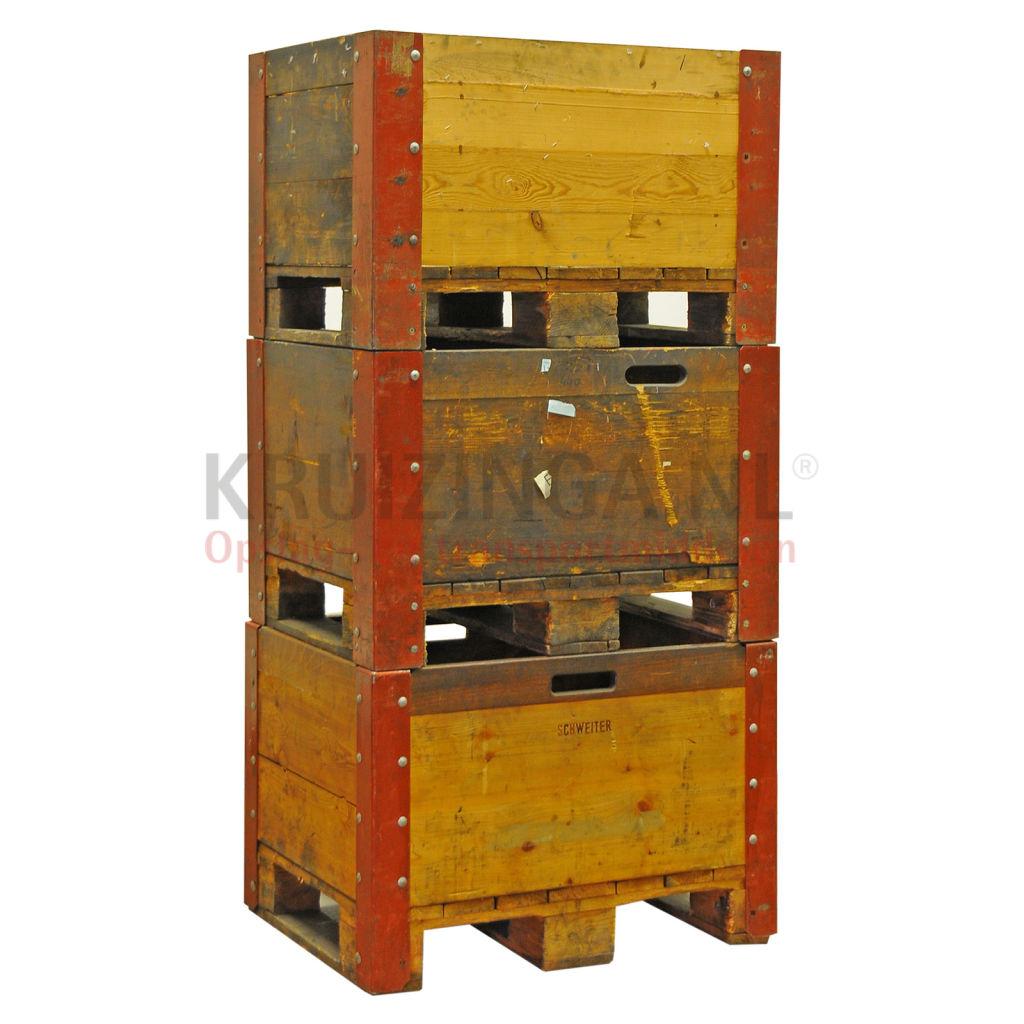 Rehausse palette construction compact 4 parois en bois Occasion Kruizinga fr # Rehausse Palette Bois