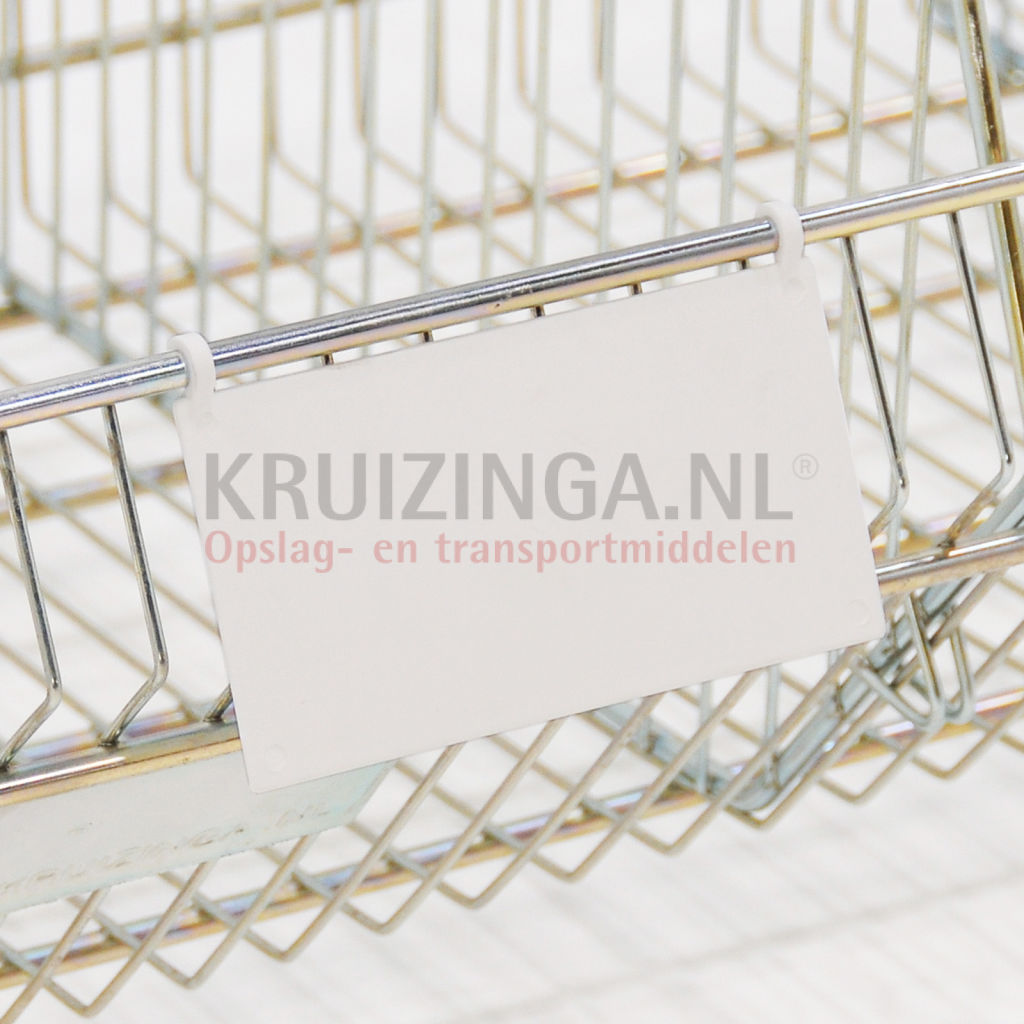 Picture of: Plastic Pocket Label Holder Wire Basket Label Holder 0 85 Kruizinga En