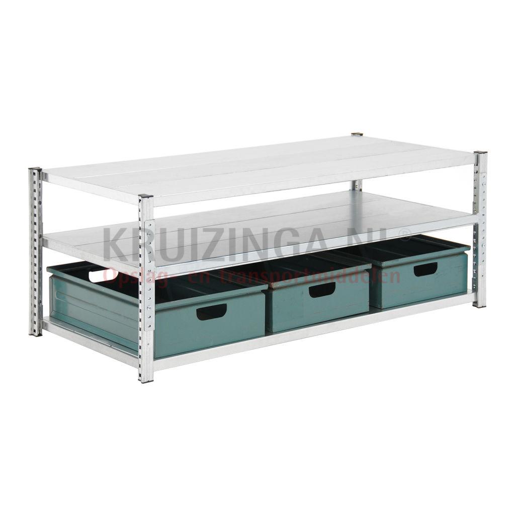 bac a bec en acier armoire pour rayonnage avec 3 bacs de rangement occasion partir de 144 22. Black Bedroom Furniture Sets. Home Design Ideas