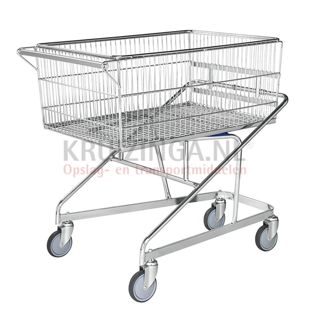 chariots de magasin chariot de manutention panier 4 roues pivotantes 704 50 frais de livraison. Black Bedroom Furniture Sets. Home Design Ideas