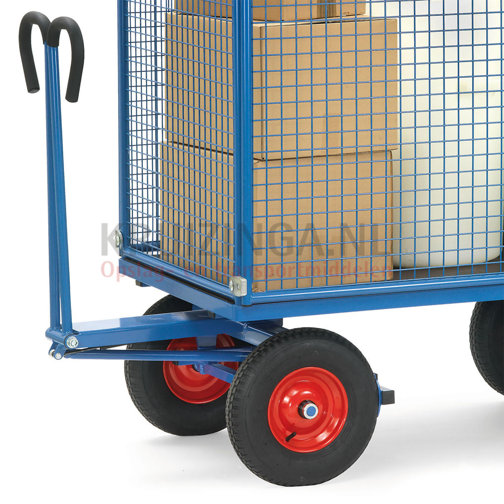 New Transport trolley Hand truck With 4 walls, of wire mesh on