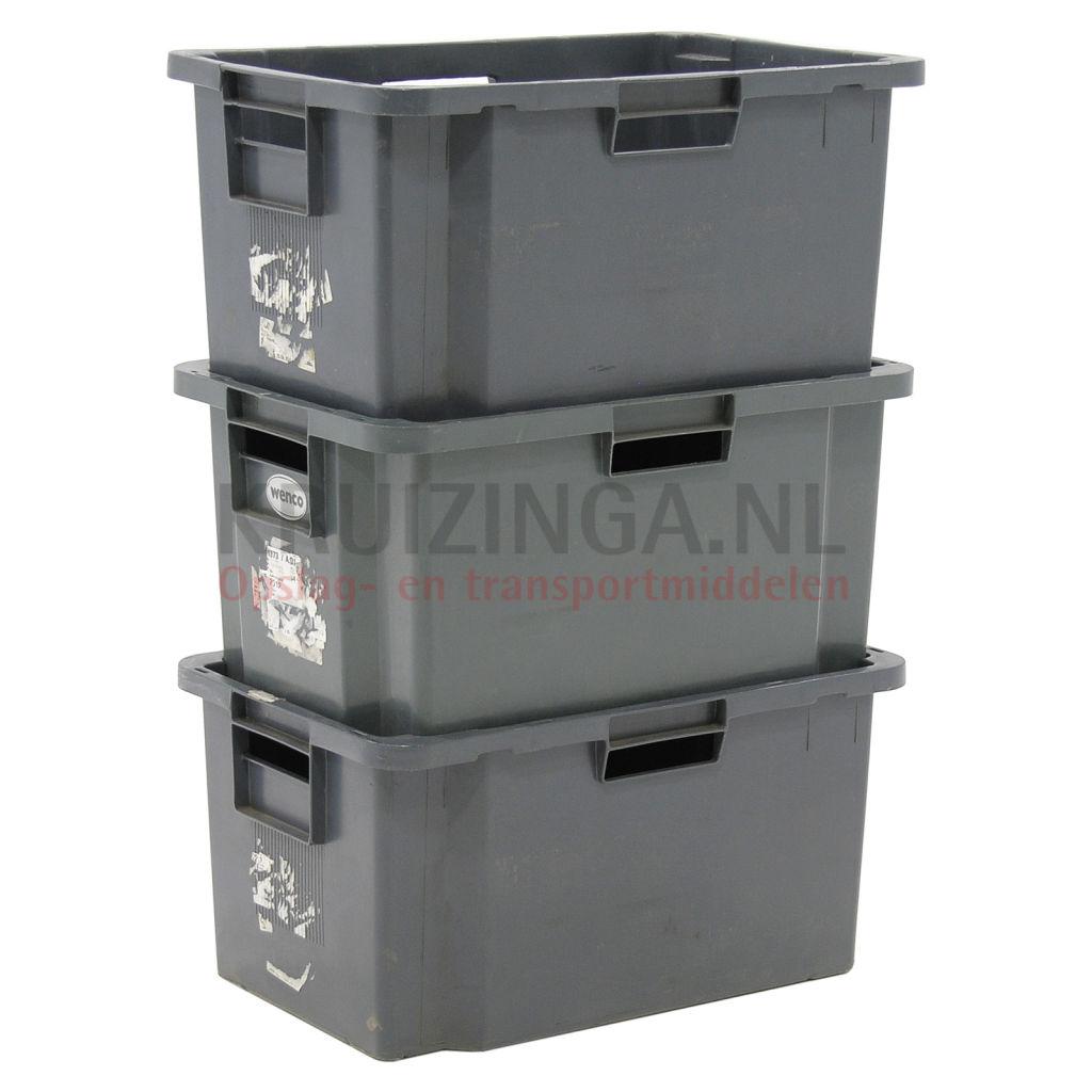stapelboxen kunststoff schachtel und stapelbar mit offenen handgriffen gebraucht. Black Bedroom Furniture Sets. Home Design Ideas