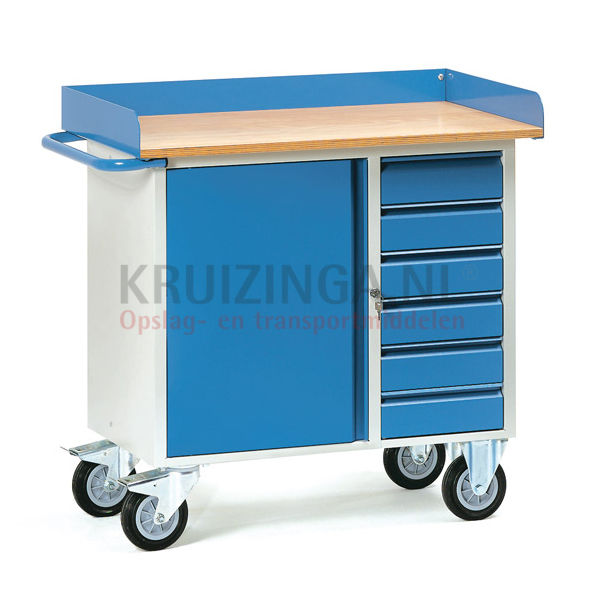 arbeitstisch werkstattwagen arbeitsplatte abrollrand 80 mm 498 50 frei haus. Black Bedroom Furniture Sets. Home Design Ideas