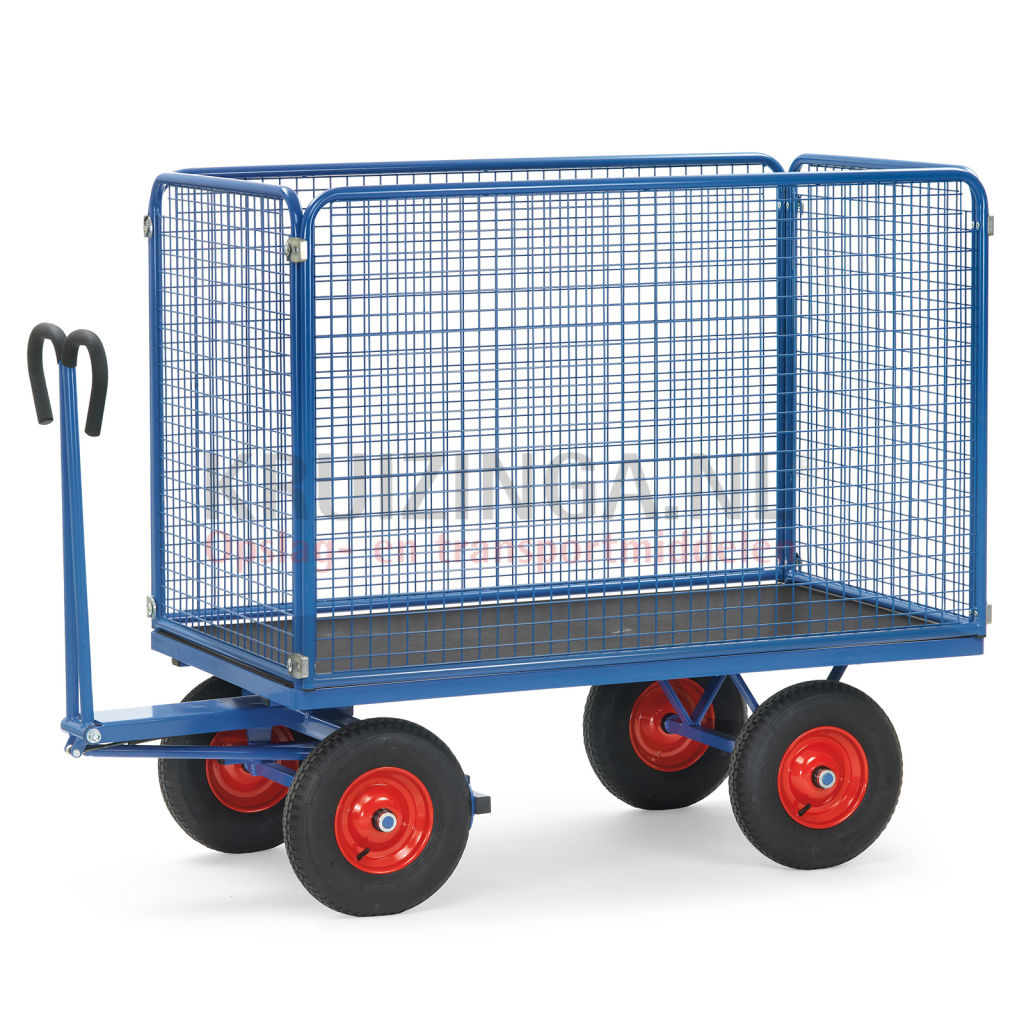 Transport trolley hand truck with 4 walls, of wire mesh € 957,50 ...