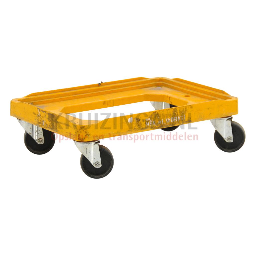 chariot ch ssis plateau roulant convenable pour les bacs norme europ enne 600x400 mm occasion. Black Bedroom Furniture Sets. Home Design Ideas