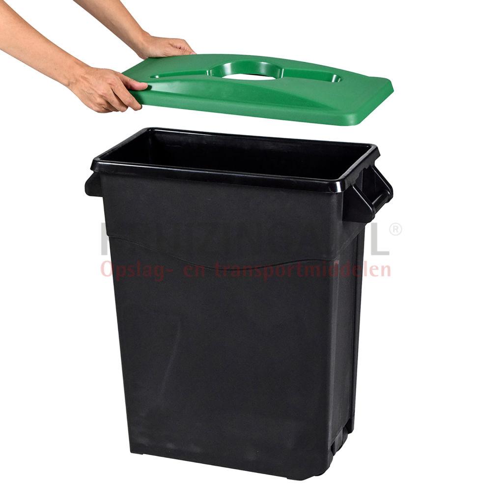 abfallbeh lter abfall und reinigung kunststoff m lltonne deckel mit einsatz ffnung ab 51. Black Bedroom Furniture Sets. Home Design Ideas