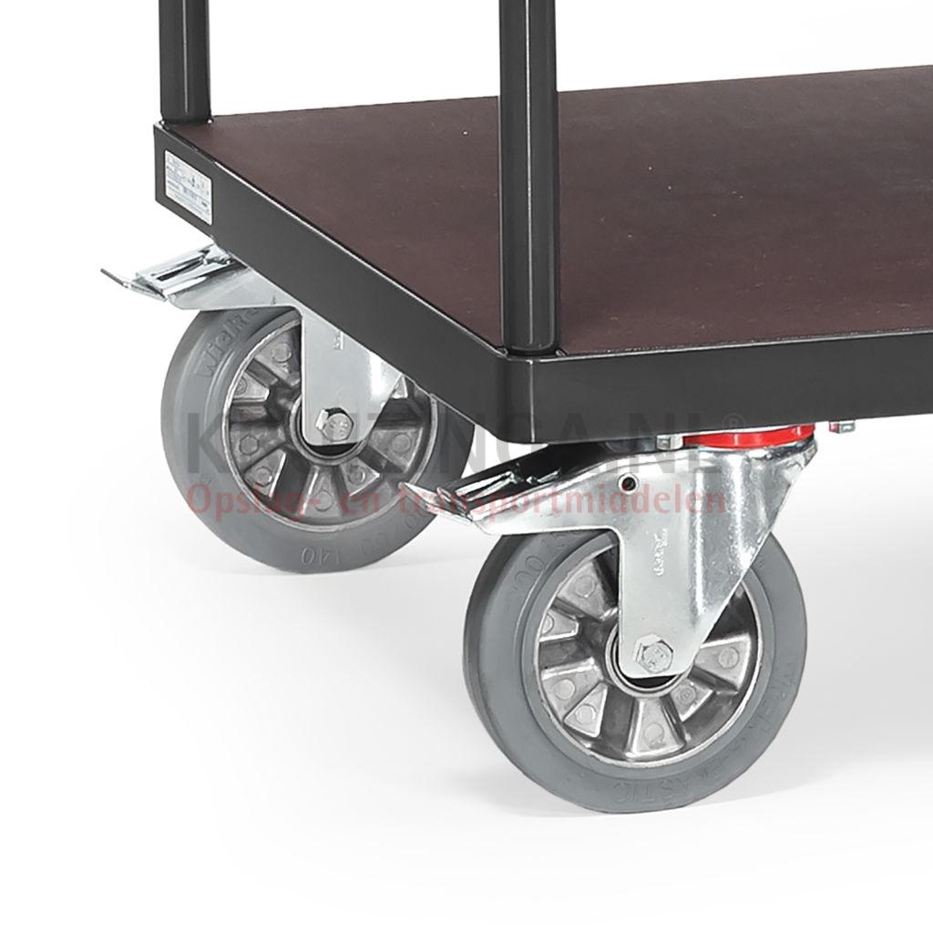 tischwagen rollwagen super multivario transporter verst rkte ausf hrung 400 50 frei haus. Black Bedroom Furniture Sets. Home Design Ideas