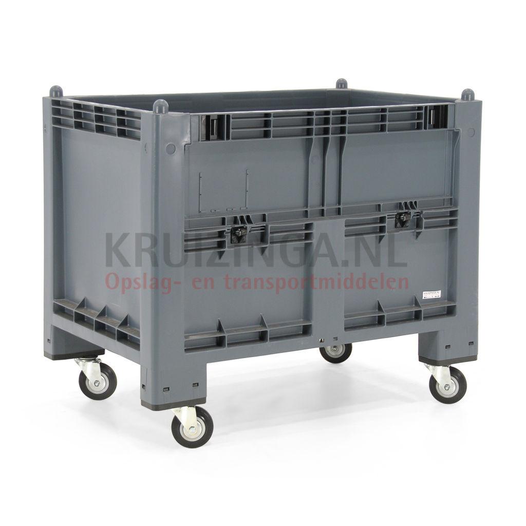 bac de rangement plastique caisse palette 1 clapet en c t. Black Bedroom Furniture Sets. Home Design Ideas