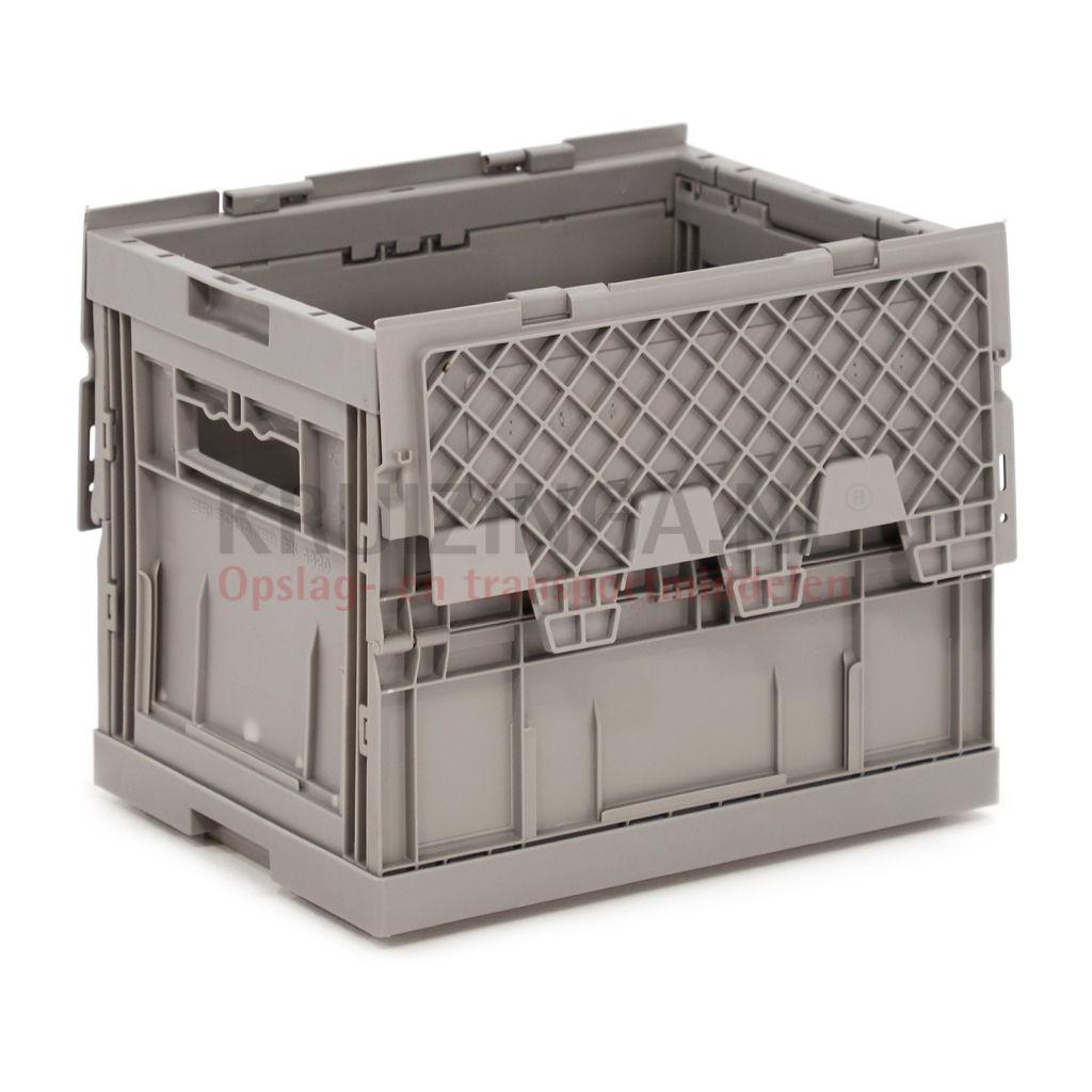 stapelboxen kunststoff stapelbar und einklappbar alle w nde geschlossen offene handgriffe ab. Black Bedroom Furniture Sets. Home Design Ideas
