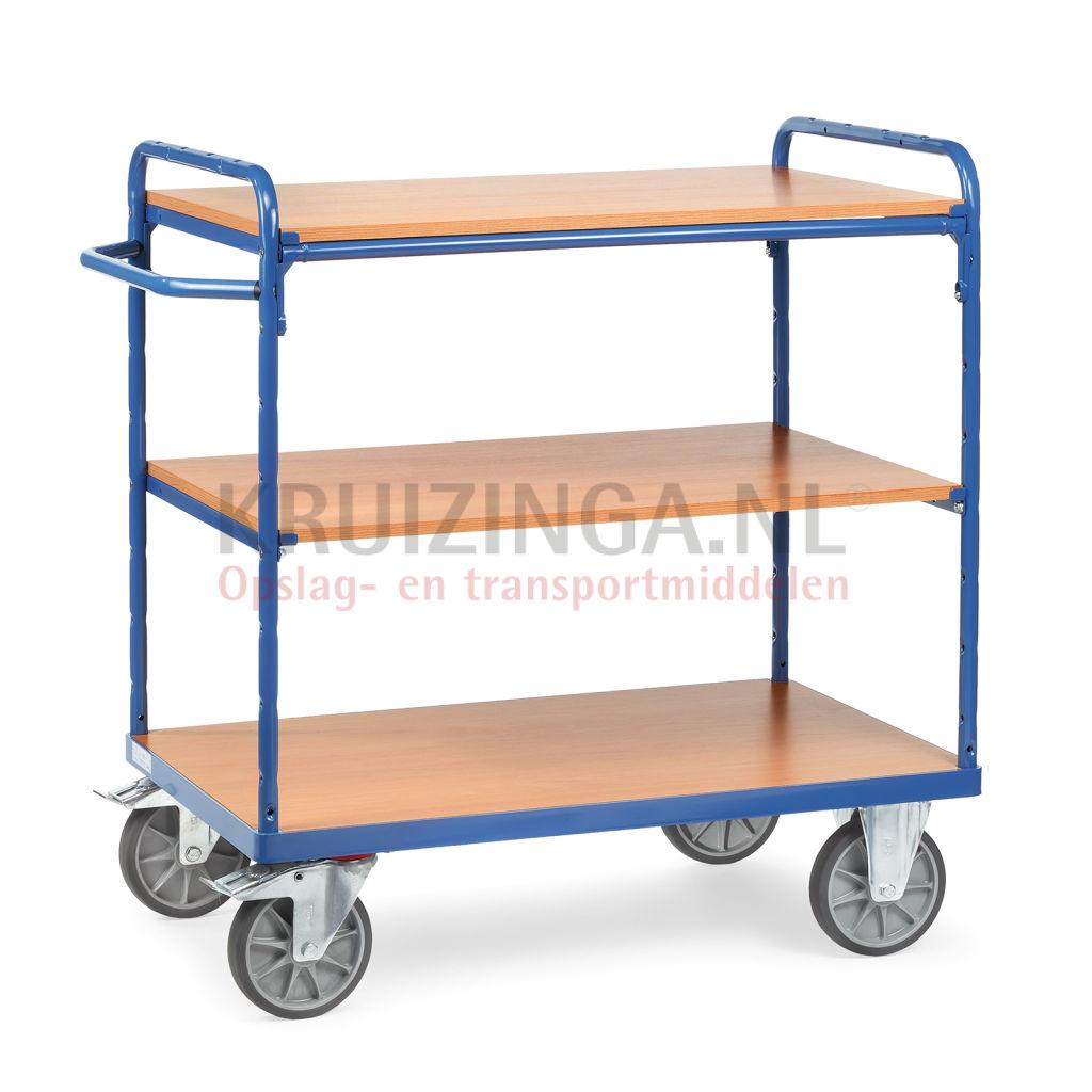 chariots plateaux chariot de manutention chariot plateaux 2 parois lat rale ouvert 257 50. Black Bedroom Furniture Sets. Home Design Ideas
