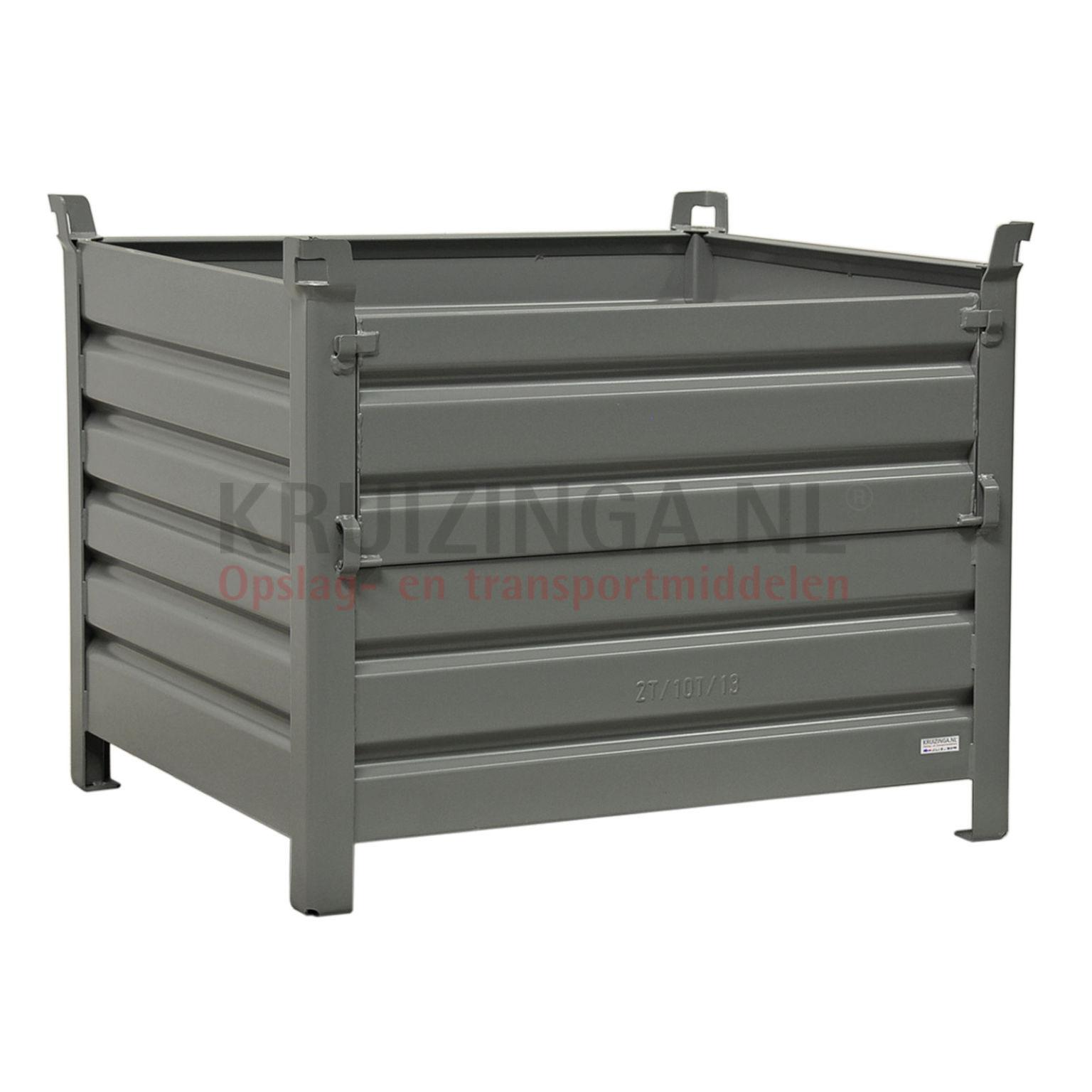 bac de rangement acier construction robuste bac empilable 1 clapet sur 1 c t longue partir de. Black Bedroom Furniture Sets. Home Design Ideas