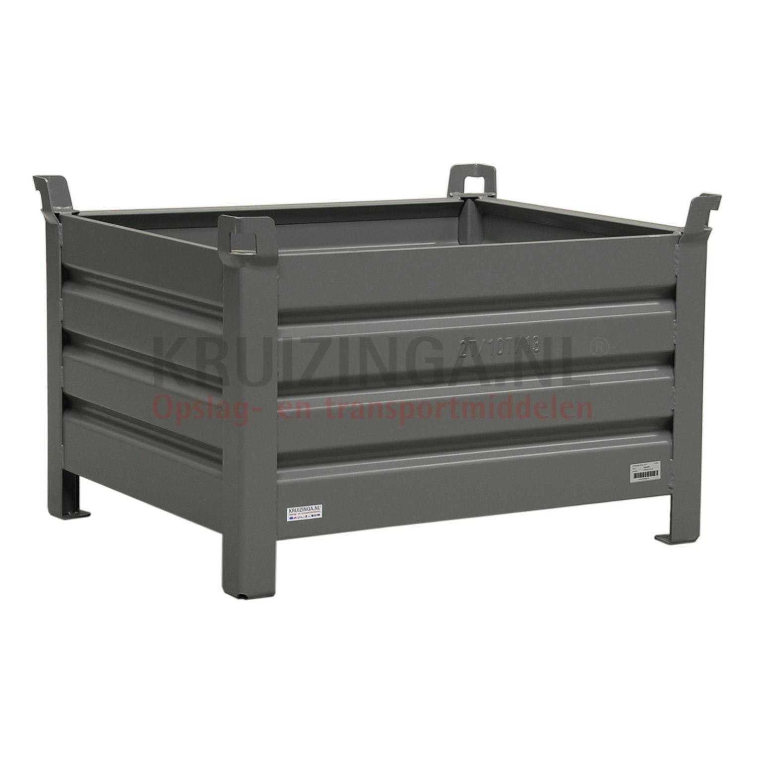 bac de rangement acier construction robuste bac empilable 4 parois partir de 149 frais de. Black Bedroom Furniture Sets. Home Design Ideas