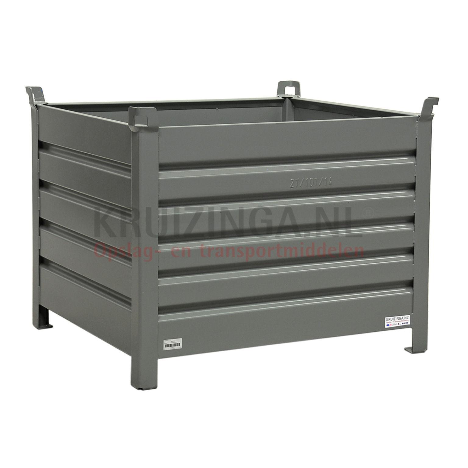 bac de rangement acier construction robuste bac empilable 4 parois partir de 280 frais de. Black Bedroom Furniture Sets. Home Design Ideas