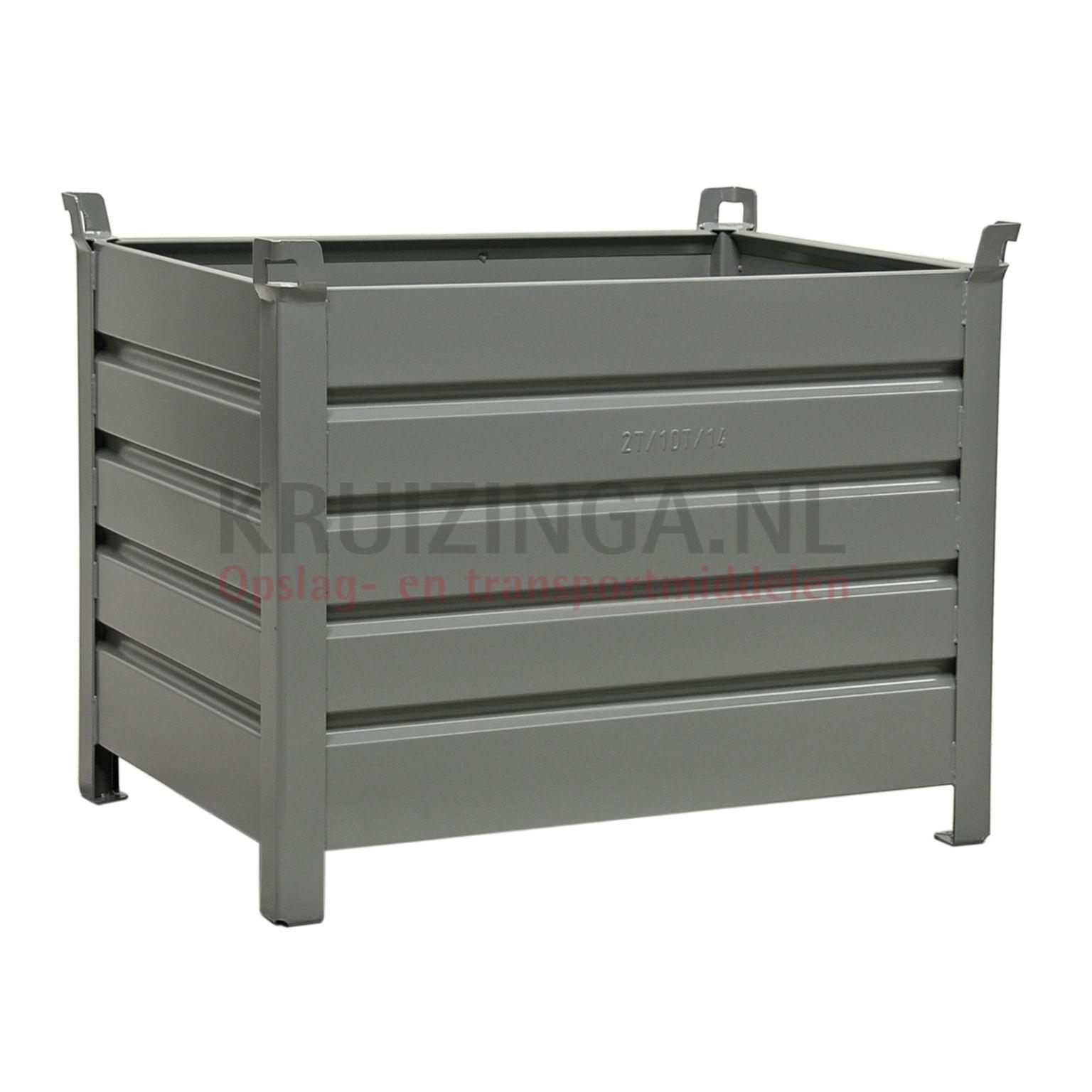 bac de rangement acier construction robuste bac empilable 4 parois partir de 241 25 frais de. Black Bedroom Furniture Sets. Home Design Ideas