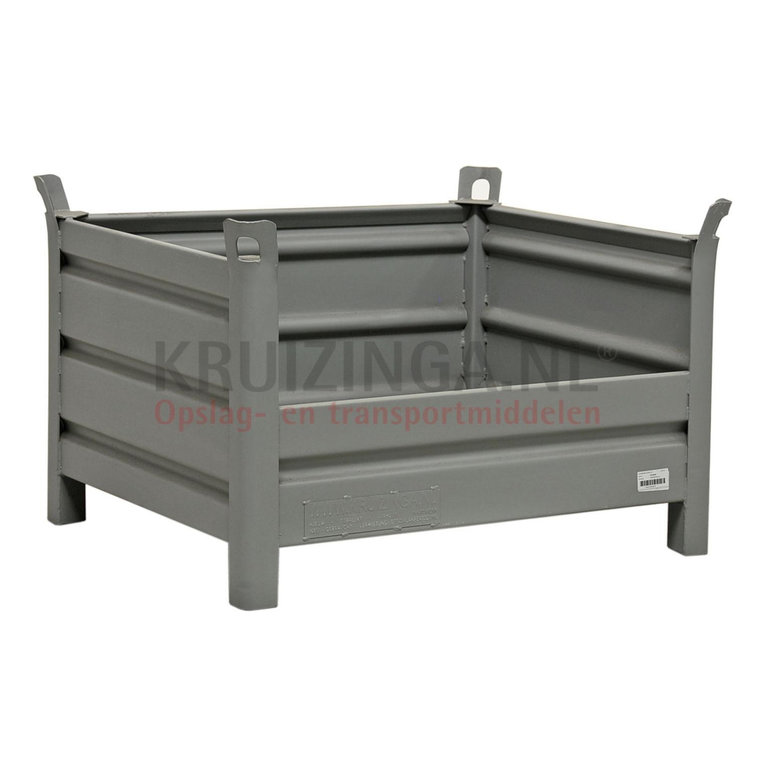 bac de rangement acier construction robuste bac empilable 1 paroi demi haut partir de 148 50. Black Bedroom Furniture Sets. Home Design Ideas