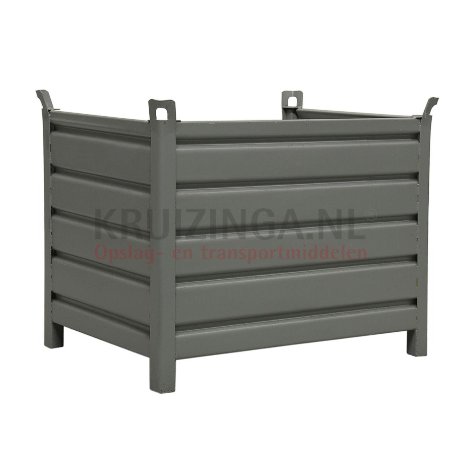 bac de rangement acier construction robuste bac empilable 1 paroi demi haut partir de 234 75. Black Bedroom Furniture Sets. Home Design Ideas