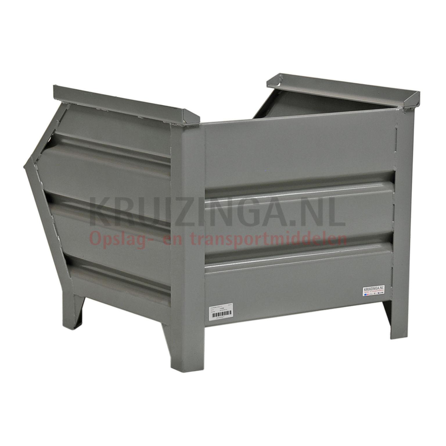 bac de rangement acier construction robuste bac empilable poign e inclin partir de 140. Black Bedroom Furniture Sets. Home Design Ideas