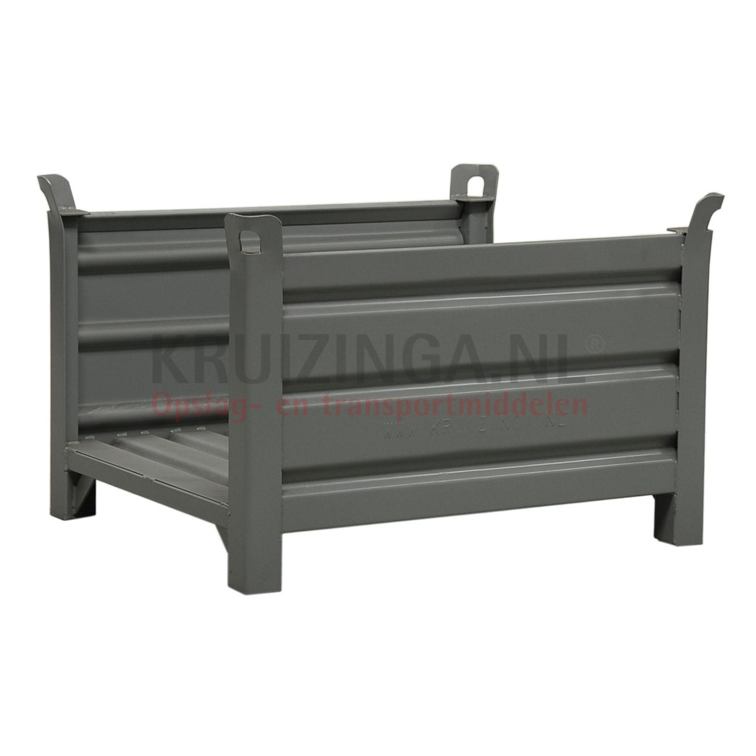 bac de rangement acier construction robuste bac empilable berceau pour charges longues 2 parois. Black Bedroom Furniture Sets. Home Design Ideas
