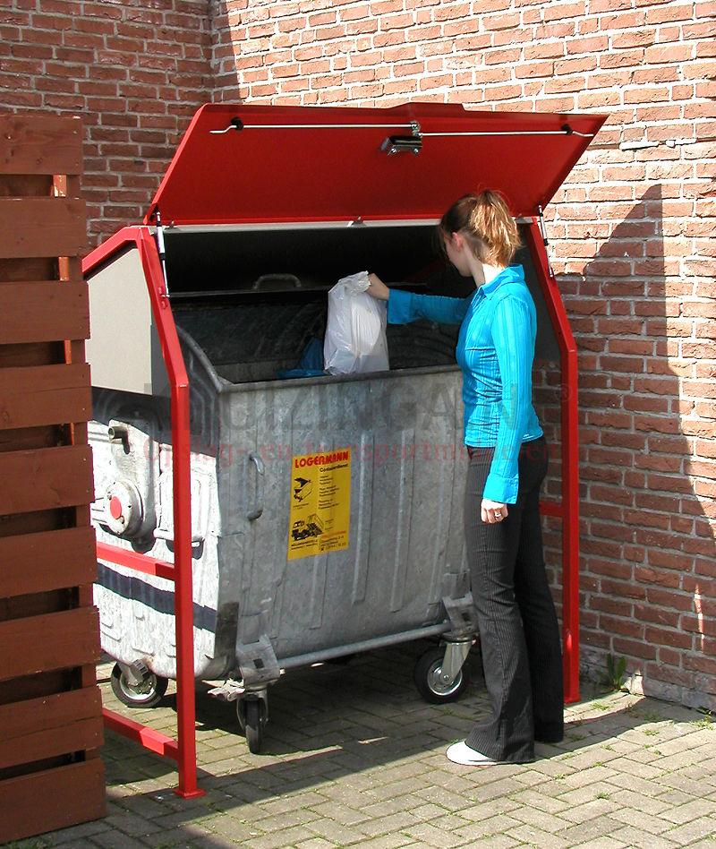m llcontainer abfall und reinigung berdachungsgestell f r abfallcontainer standard mit dach. Black Bedroom Furniture Sets. Home Design Ideas