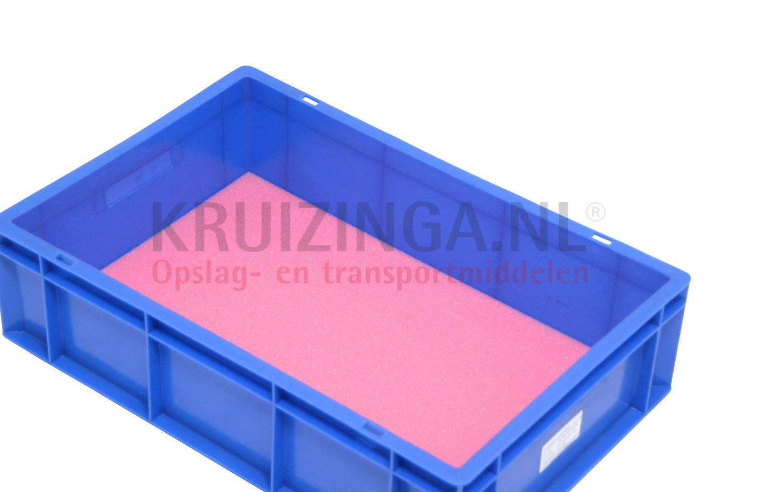 bac de rangement plastique accessoires plaque de mousse antistatique rose partir de 2 61. Black Bedroom Furniture Sets. Home Design Ideas