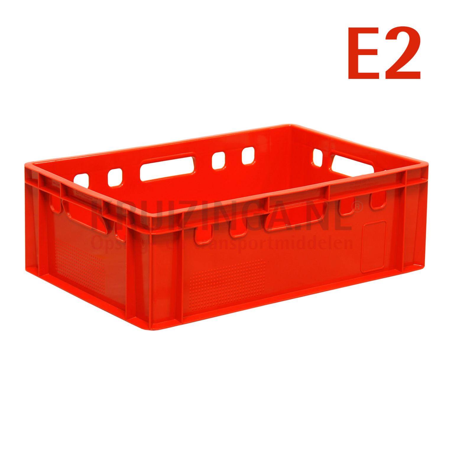 bac de rangement plastique gerbable e2 caisse de viande avec poign es ouvert. Black Bedroom Furniture Sets. Home Design Ideas