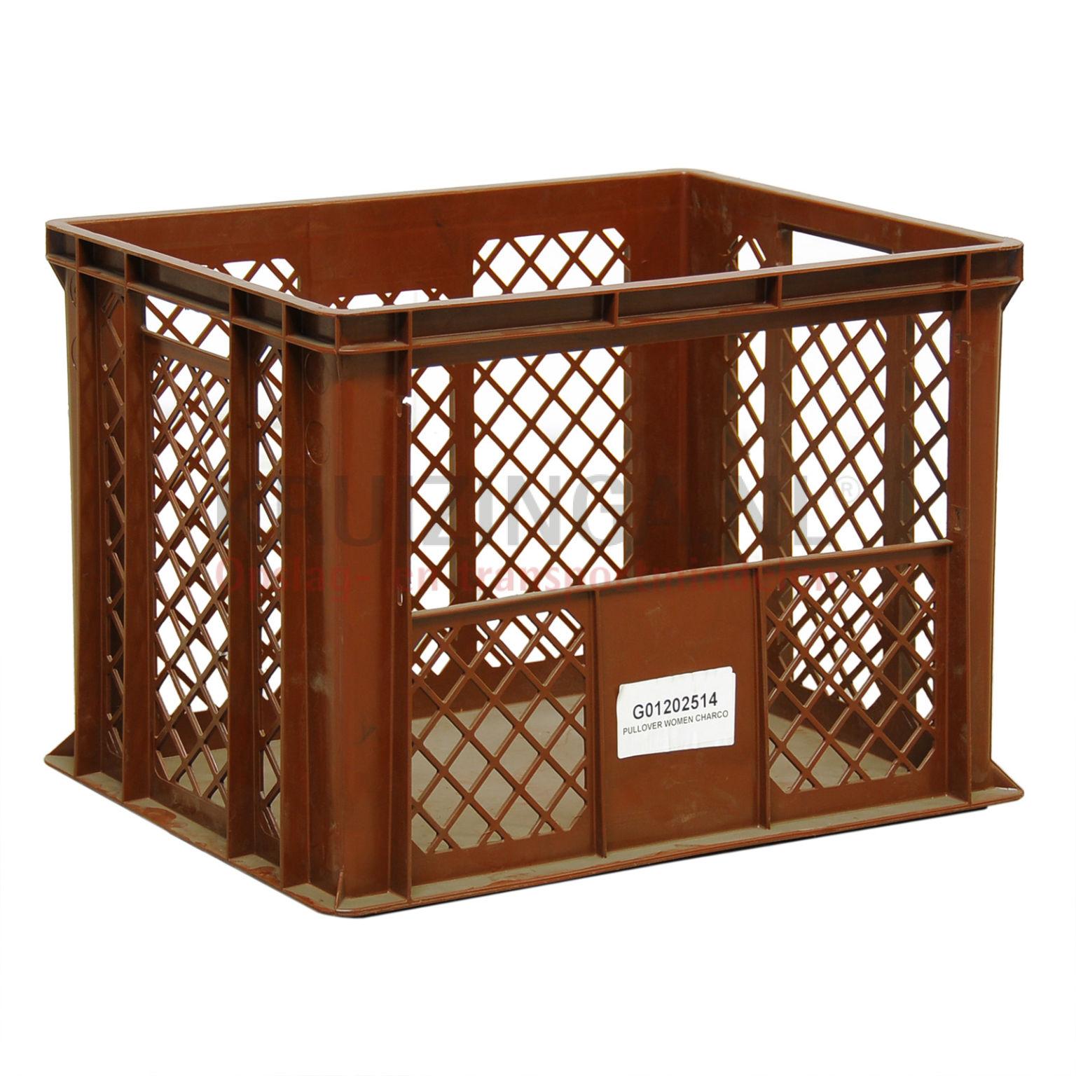 stapelboxen kunststoff mit griff ffnung perforierte w nde geschlossener boden gebraucht. Black Bedroom Furniture Sets. Home Design Ideas