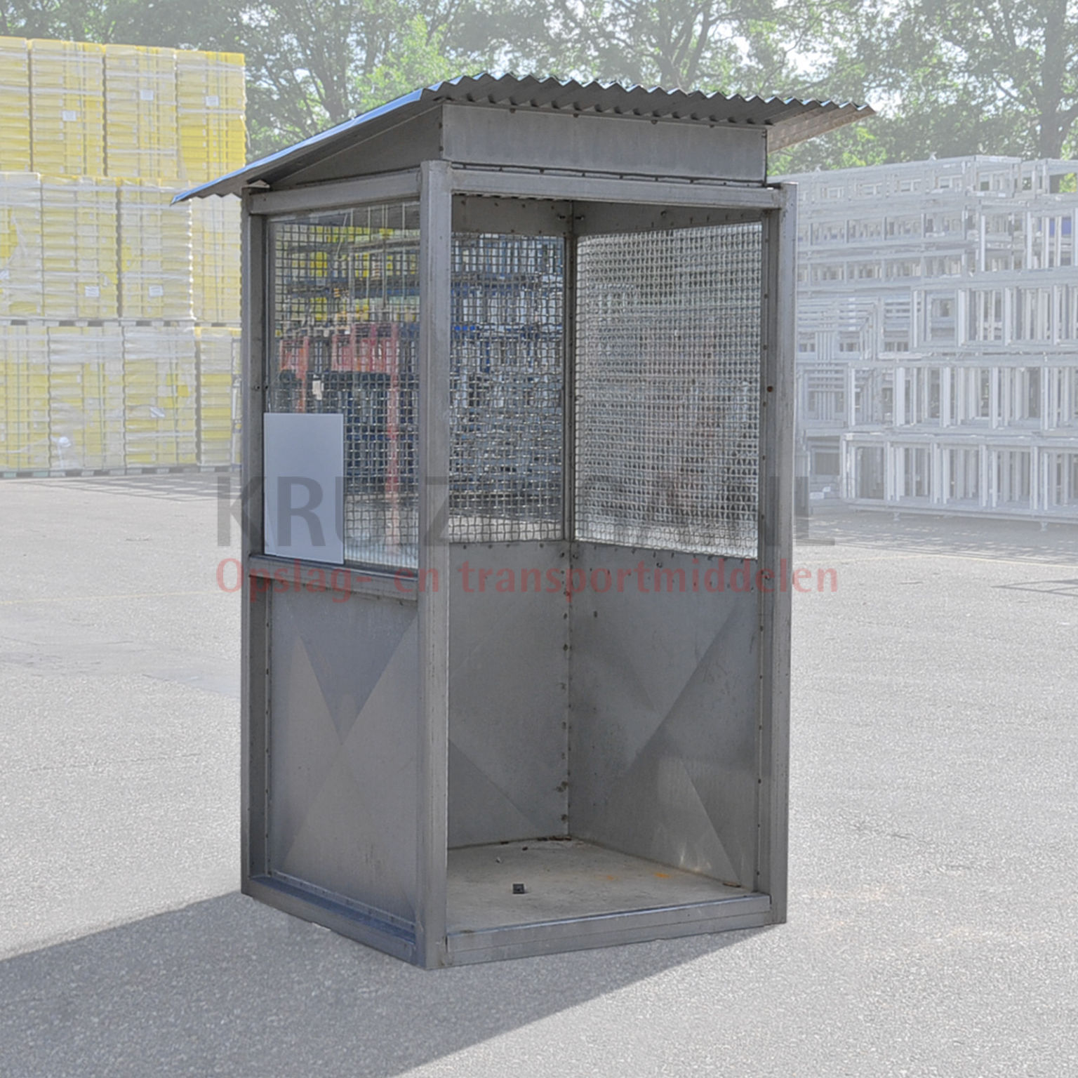 Open Shelter Metal : Container shelter open front used kruizinga
