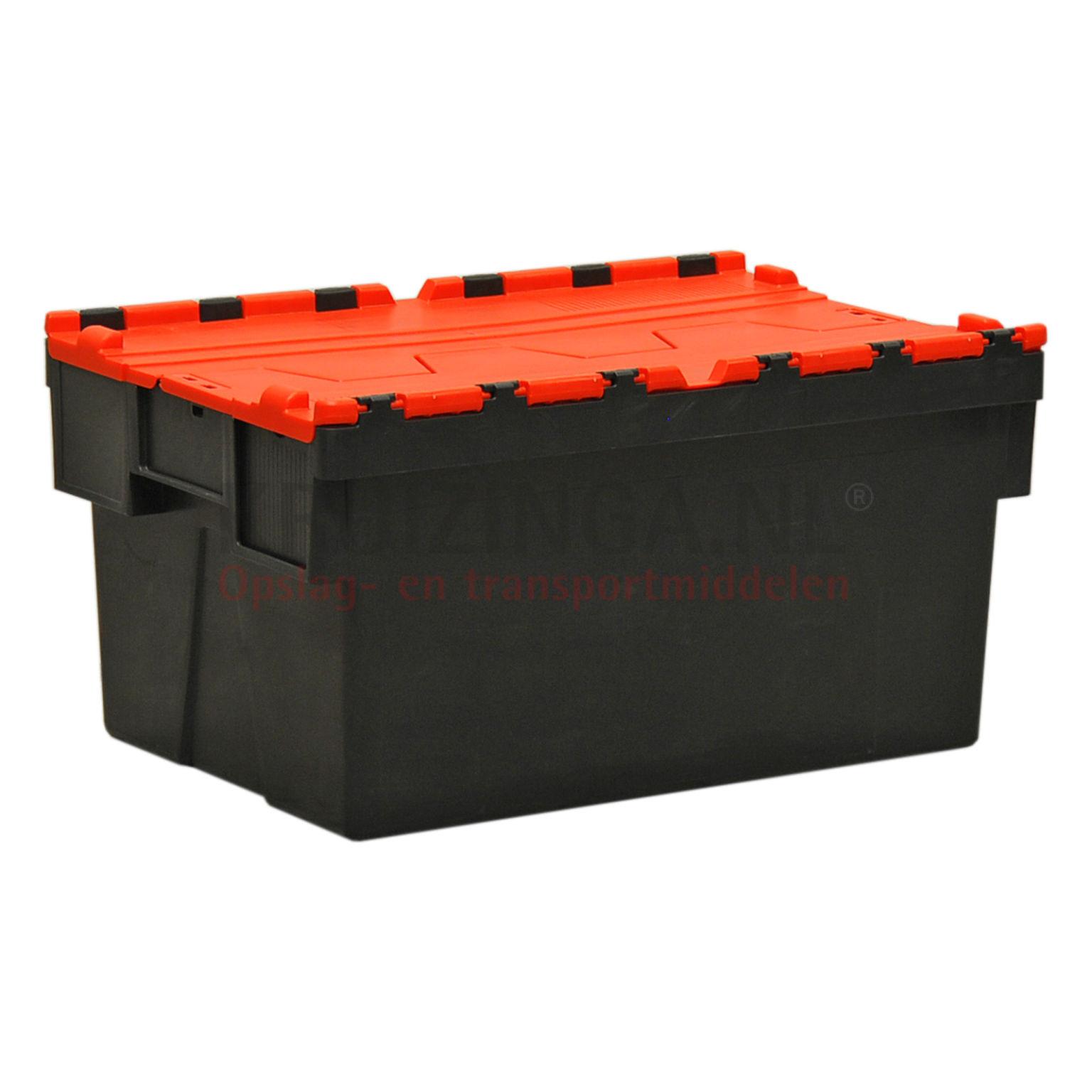 bac de rangement plastique emboitables et empilable muni d 39 un couvercle en 2 parties. Black Bedroom Furniture Sets. Home Design Ideas