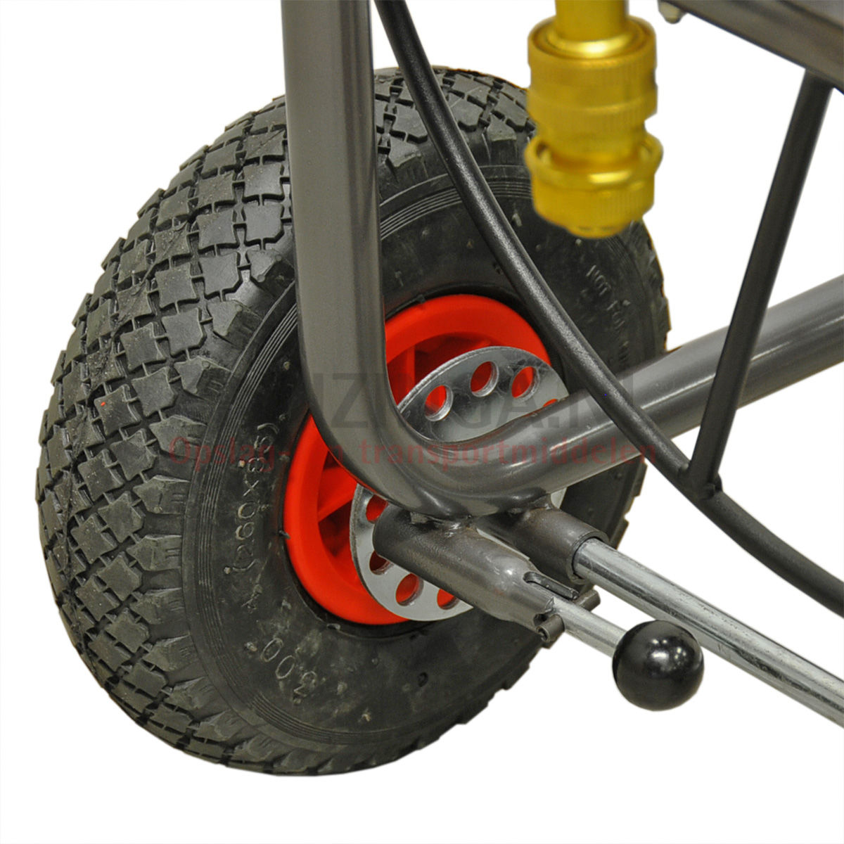 Chariots porte outils et pi ces chariot de manutention chariot enrouleur en roues 290 50 frais - Chariot porte roue tracteur ...