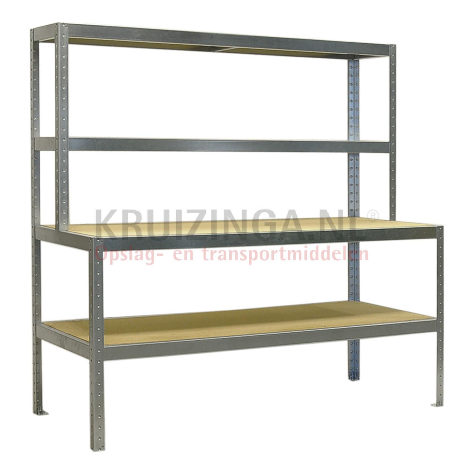 arbeitstisch packtisch mit aufbau 407 25 frei haus. Black Bedroom Furniture Sets. Home Design Ideas
