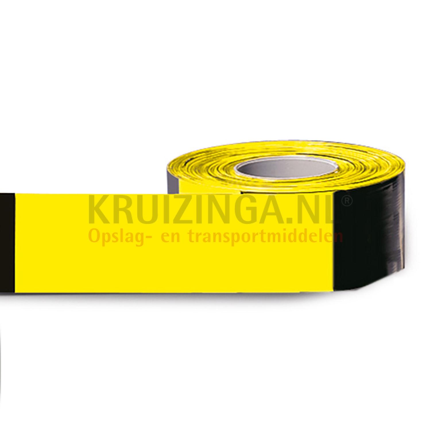 absperrung sicherheit und markierung fahrbahnmarkierung 2x500 meter absperrband gelb schwarz. Black Bedroom Furniture Sets. Home Design Ideas