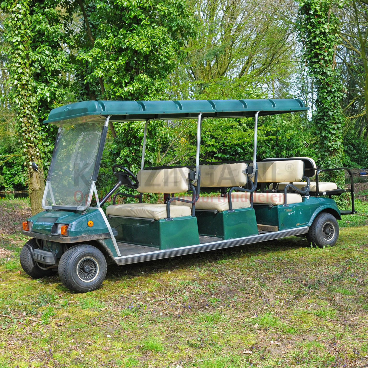 golfwagen club car villager f r 8 personen elektrisch. Black Bedroom Furniture Sets. Home Design Ideas