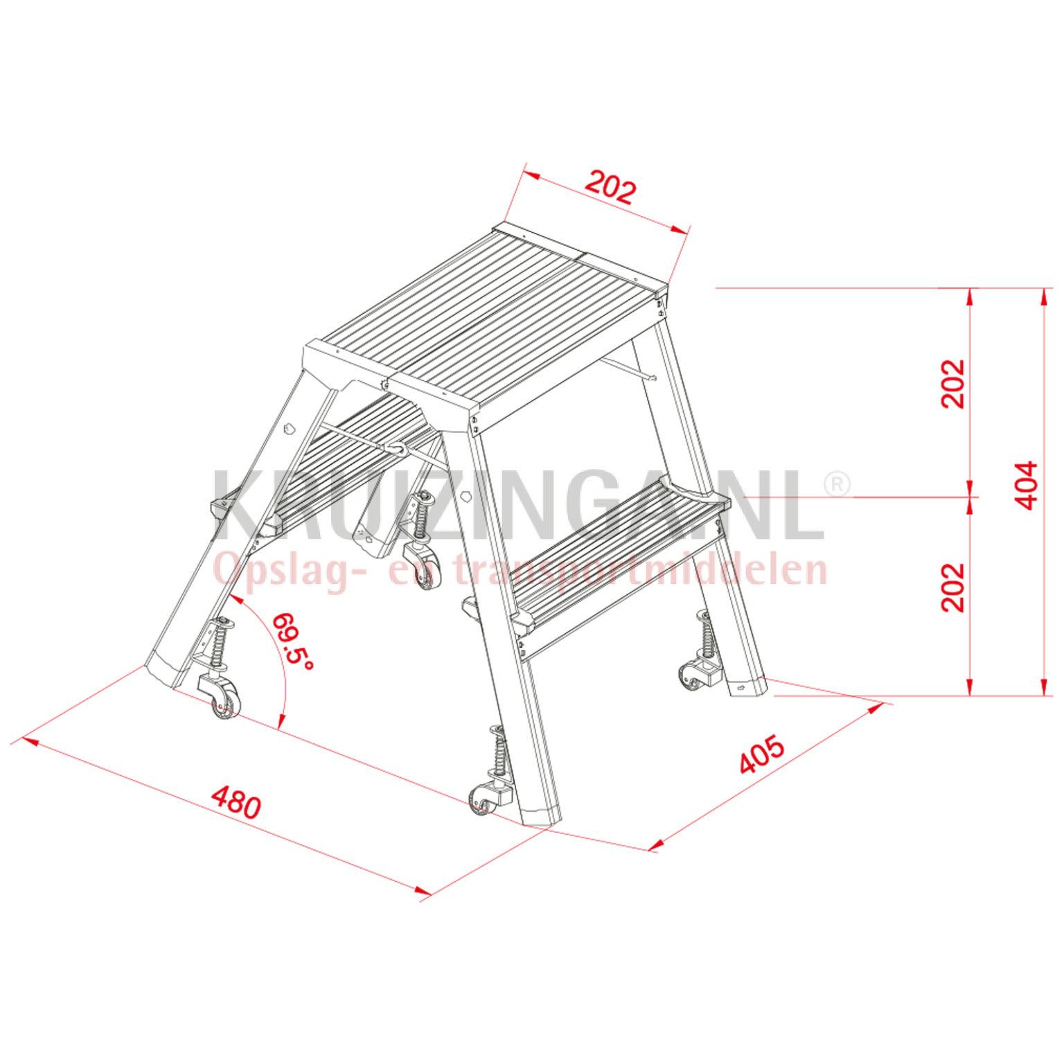 escalier escabeau avec plate forme rabattable pliable. Black Bedroom Furniture Sets. Home Design Ideas