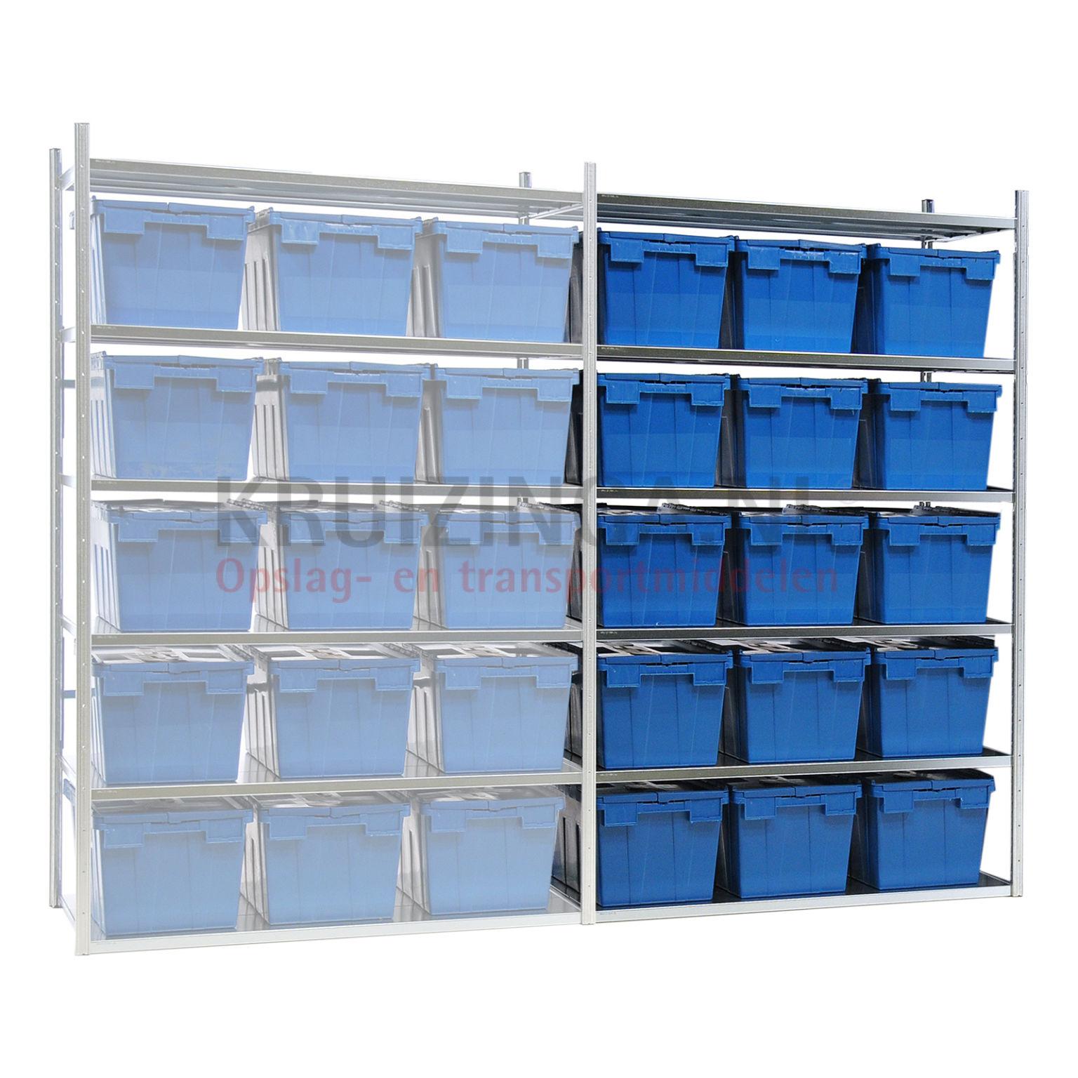 kombination satz regale kombination satz anbau inkl 15 stapelboxen mit deckel ab 372 38 frei. Black Bedroom Furniture Sets. Home Design Ideas