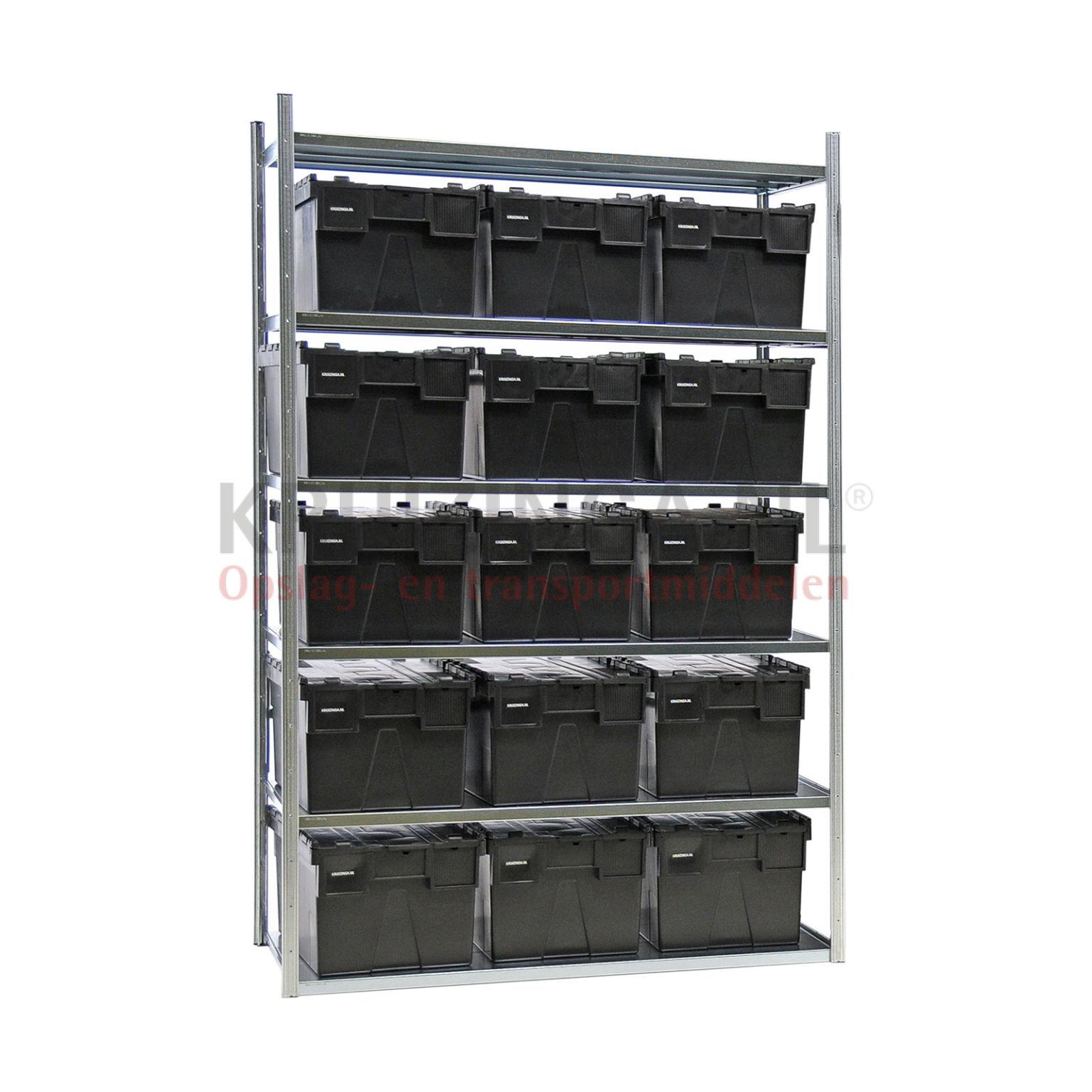 kombination satz regale kombination satz fachbodenregal inkl 15 stapelboxen mit deckel ab 416. Black Bedroom Furniture Sets. Home Design Ideas