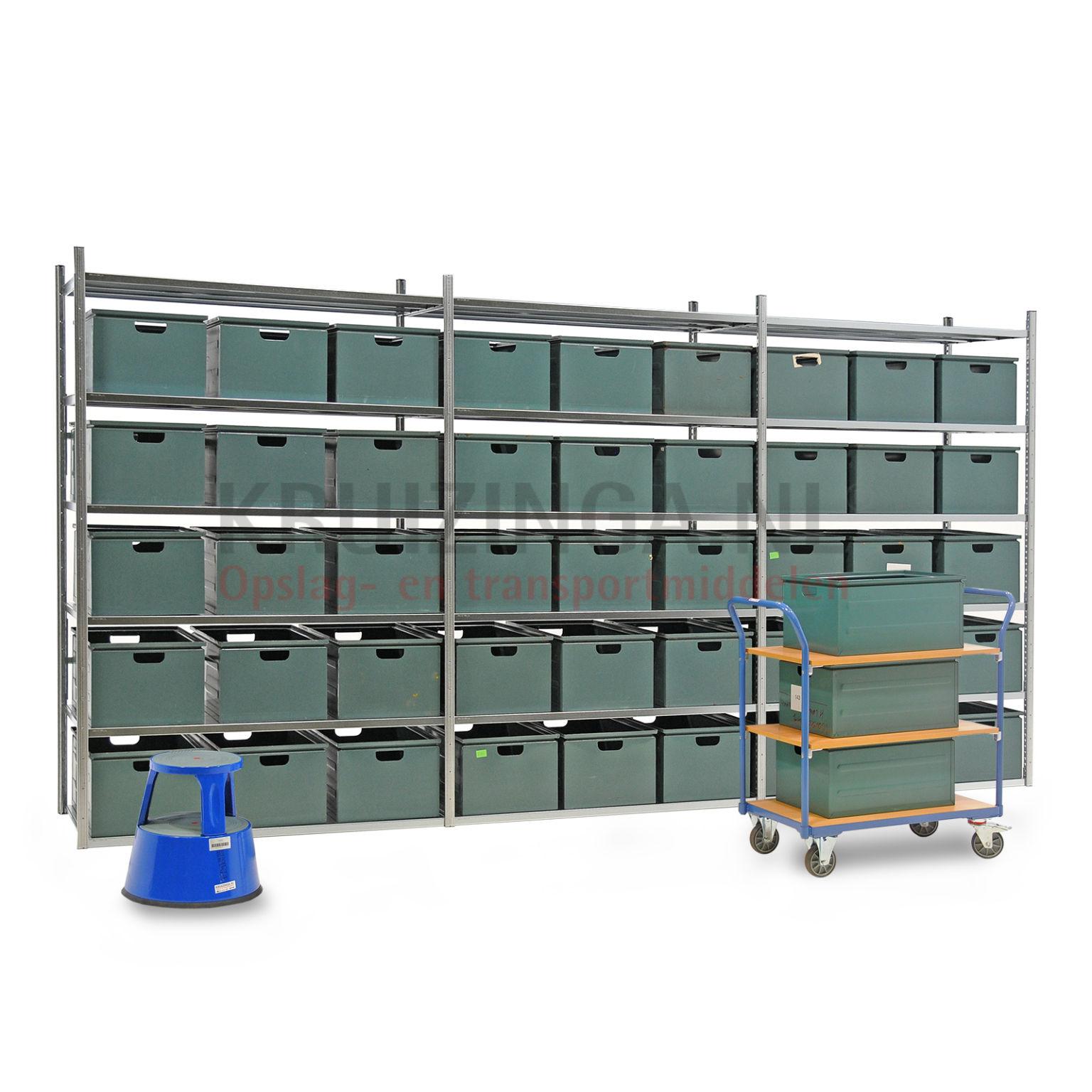 kombination satz regale kombination satz fachbodenregal inkl 45 stapelboxen gebraucht ab 756. Black Bedroom Furniture Sets. Home Design Ideas