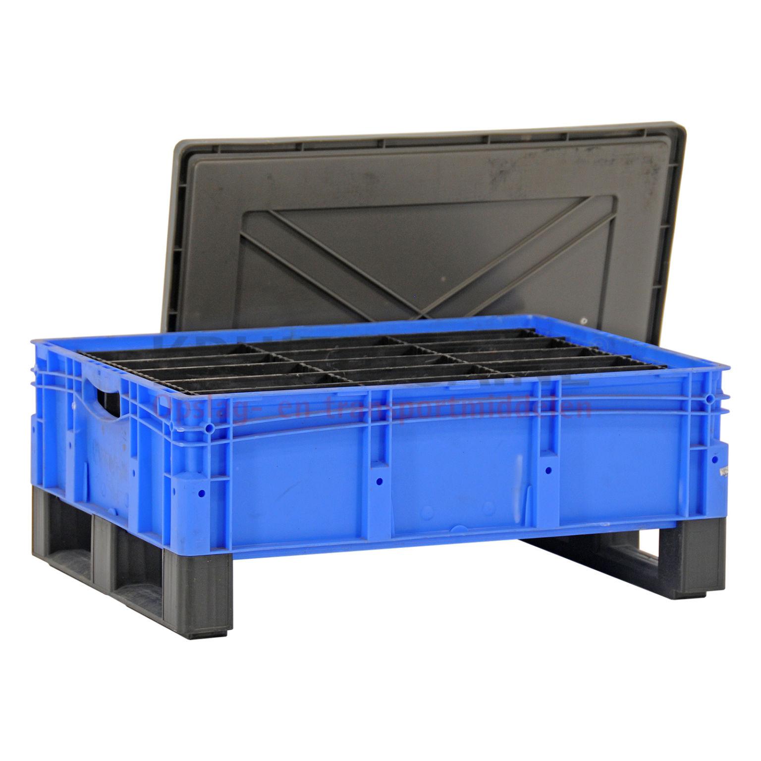 stapelboxen kunststoff stapelbar facheinteilung inkl deckel gebraucht. Black Bedroom Furniture Sets. Home Design Ideas