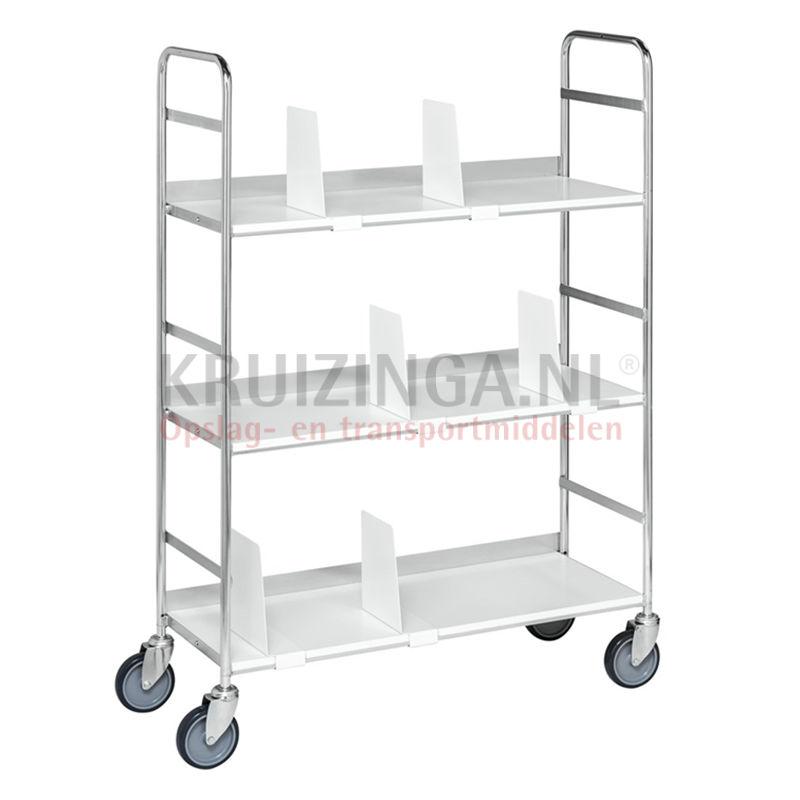 chariots plateaux chariot de manutention chariot plateaux avec 3 tag res 270 90 frais de. Black Bedroom Furniture Sets. Home Design Ideas