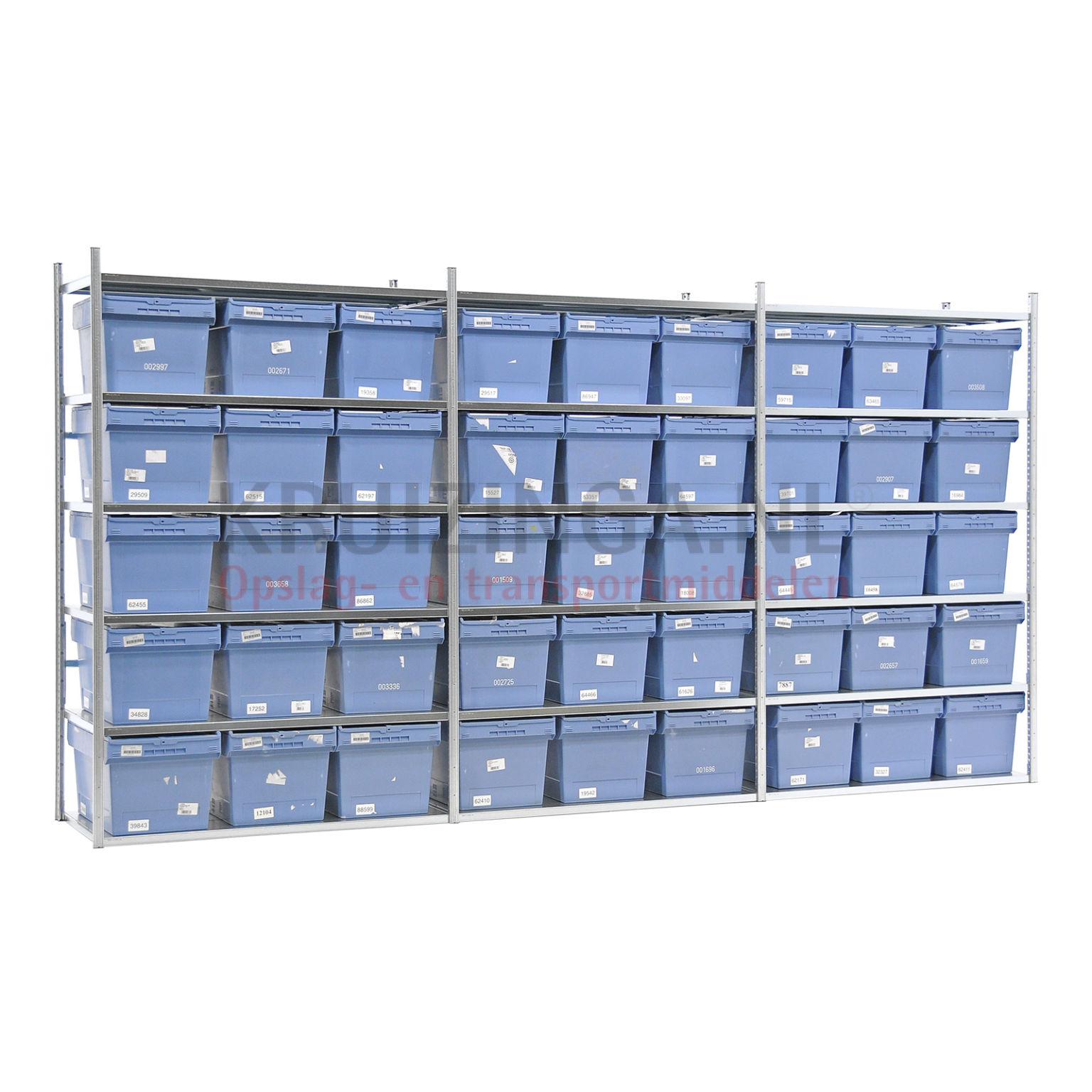 kombination satz regale kombination satz fachbodenregal inkl 45 stapelboxen mit deckel. Black Bedroom Furniture Sets. Home Design Ideas