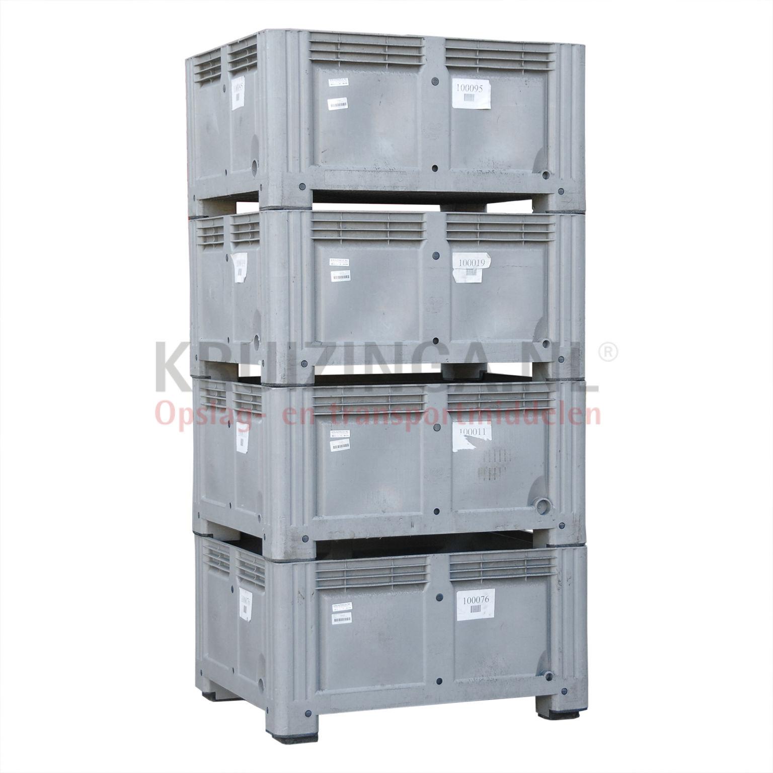 stapelboxen kunststoff gro volumenbeh lter b qualit t mit sch den gebraucht. Black Bedroom Furniture Sets. Home Design Ideas
