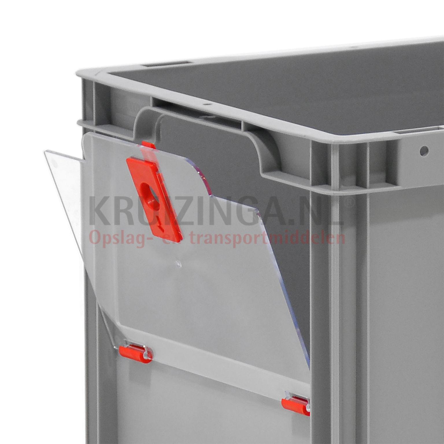 stapelboxen kunststoff zubeh r schwenkbare klappe f r kurzen seite ab 6 70 frei haus. Black Bedroom Furniture Sets. Home Design Ideas