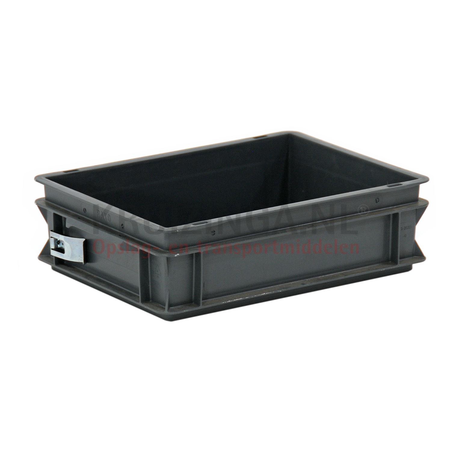 stapelboxen kunststoff stapelbar mit offenen handgriffen gebraucht. Black Bedroom Furniture Sets. Home Design Ideas