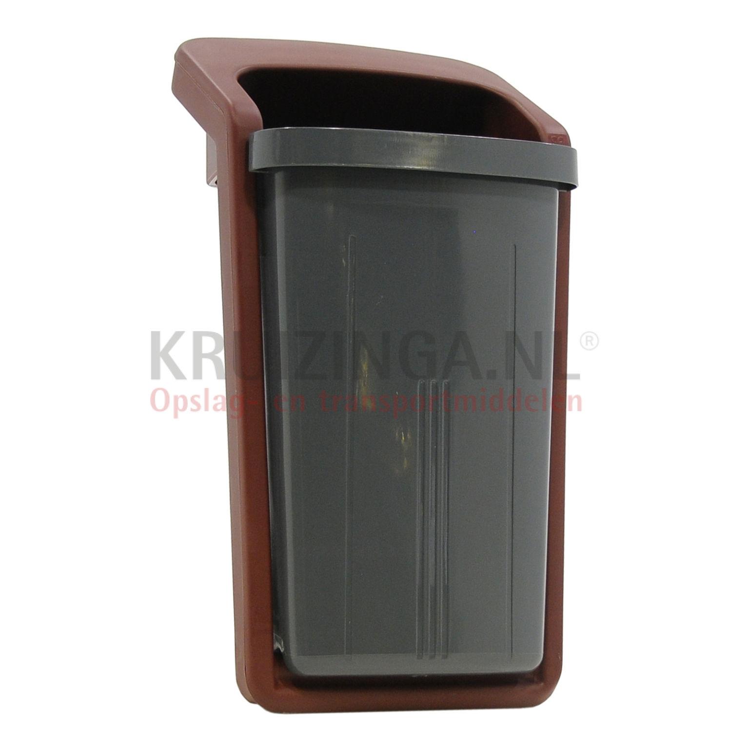 abfalleimer f r au enbereich abfall und reinigung kunststoff m lltonne mit einsatz ffnung. Black Bedroom Furniture Sets. Home Design Ideas