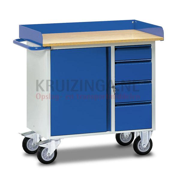 table de travail chariot tablette plan de travail hauteurs de c t s 80 mm 563 50 frais de. Black Bedroom Furniture Sets. Home Design Ideas