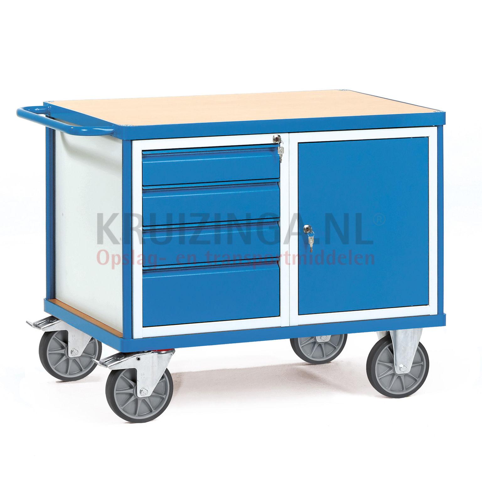 arbeitstisch werkstattwagen ladefl che 4 schubladen schrank 723 frei haus. Black Bedroom Furniture Sets. Home Design Ideas